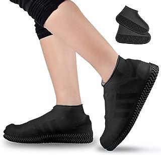 Micnaron 防水靴和鞋盖可重复使用防滑雨雪地鞋可折叠Galoshes