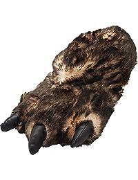 NORTY Grizzly Bear 填充动物爪爪子拖鞋幼儿,儿童和成人