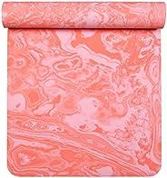 Aimerday 优质天然黄麻瑜伽垫环保*厚 182.88 厘米超长防滑橡胶健身地垫带手提包带,适用于各种瑜伽、普拉提、健身和锻炼 5mm
