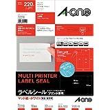 A-one 标签贴纸 打印机兼用10面 22张 72210