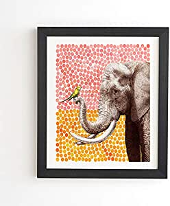 Deny Designs Garima Dhawan New Friends 2 加框墙壁艺术,20.32 cm x 24.13 cm,多色