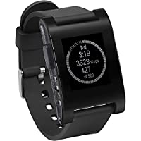 Pebble智能手表 匹配iPhone和Android设备(黑)