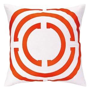 Cocozy 浅色刺绣亚麻枕头 橙色 24CZ02FC20SQ