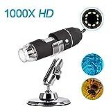iitrust USB显微镜 数码显微镜 电子显微镜 摄像头 微型瞄准镜 高分辨率 *大1000倍高倍率 附带日语说明书 D459-C-BLK