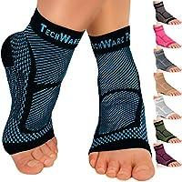 TechWare 专业护踝压力护套 - 缓解跟腱*、关节*。 足底**袜,带足弓支撑,减少*和脚跟**。 运动受伤恢复