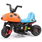 HAPPYBRAND儿童电动车 电动摩托车 小孩电动三轮车玩具车 宝宝童车可坐8918 (橙)