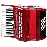 Classic Cantabile 手风琴(48 个低音键 26 个高音键 2 合唱 3 音阶 包括 箱子和肩带)