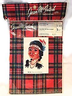 Jean McIntosh 北美印*安*民族女士复古小点针绣套件 5X 17.78 厘米