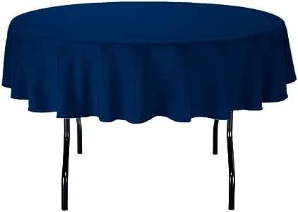 Gee DI MODA 桌布–7.62cm 圆形 tablecloths 适用于圆形桌布 IN 可水洗涤纶–非常适合 buffet 台,聚会,假期 dinner & More 深蓝色