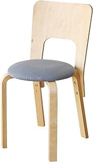 房间和家庭 真丝面料餐桌椅 34 X 34 X 76cm 蓝色 34 X 34 X 76cm -