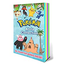 Alola Chapter Book Collection: The Pokemon School Challenge / Battle for the Z-ring / Adventure on Treasure Island / Old Buddies, New Battles