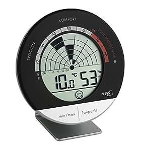 霉菌雷达 TFA 30.5032 温湿度计 银白色