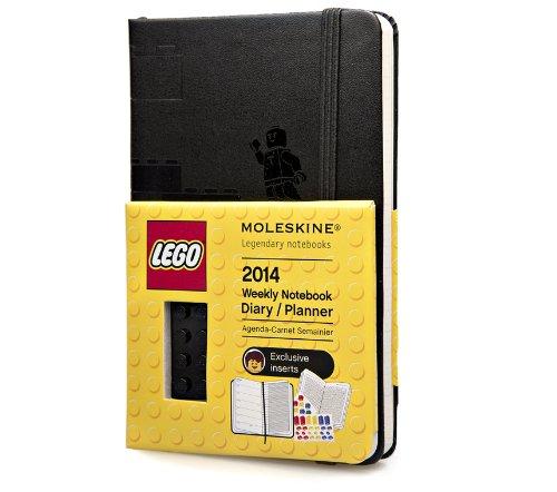 Moleskine 2014年12个月乐高特别版经典周记本 黑色 硬面 口袋型