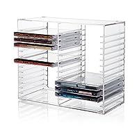 可堆叠透明塑料 CD 架 - 可容纳 30 个标准 CD 宝石盒