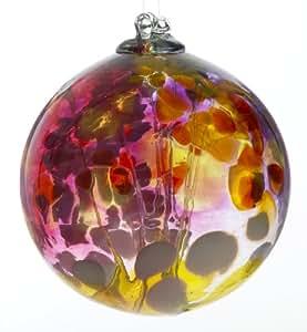 Kitras 6 英寸童话球艺术玻璃 OR-FORB-07-YE