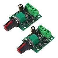 Aoicrie 2 件直流电压电机速度控制,1.8v 3v 5v 6v 7.2v 12v 2A 30W 低压直流电机速度控制器 PWM 1803BK 1803B 可调驱动器开关