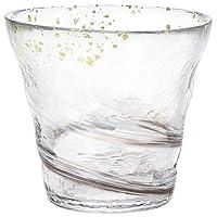 ADERIA Tsugaru Vidro 碎石玻璃金片圖案玻璃杯,10.1盎司(約286.33克),300毫升
