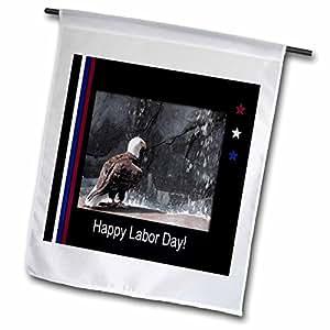 BEVERLY TURNER 人工 DAY 设计–人工天, EAGLE 来自瀑布–旗帜 12 x 18 inch Garden Flag