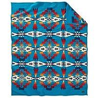 Pendleton 羊毛研磨毯长袍 Tucson Turquoise 64X80