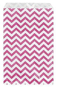 """888 Display USA - V 形纸质礼品袋购物销售手提袋喜爱袋生日婚礼复活节派对婴儿淋浴(100 件) 粉红色 6"""" x 9"""""""