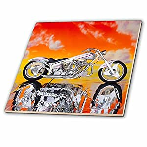 3drose ct_ 4489_1 瓷砖 描绘哈雷戴维森 174 号摩托车