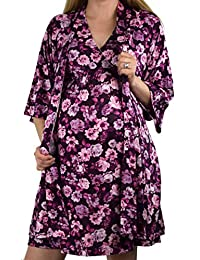 拥抱 2 合 1 超柔孕妇和哺乳睡衣和睡袍套装
