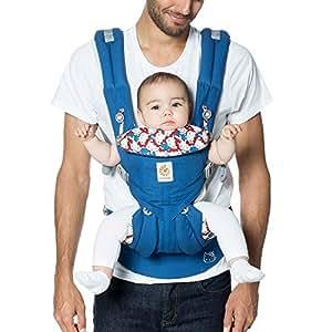 ERGObaby OMNI 360 Cool Air Mesh 符合人体工程学 婴儿背带 适合所有携带姿势 经典 Blue Classic