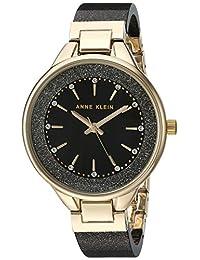Anne Klein AK-1408BKBKAK/1408BKBK analog 树脂 黑色 AK/1408BKBK watches