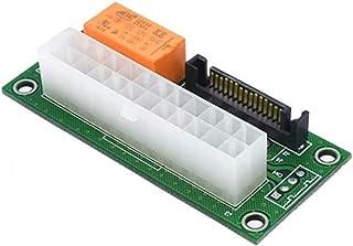 2 件装双 PSU 多电源适配器,add2psu Sata ATX 24针至 Molex 4针连接器(2 件)