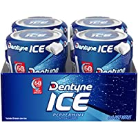 Dentyne Ice Sugar Free Gum (Peppermint 60 Piece Pack of 4)