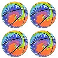 7 英寸(约 17.8 厘米)扎染迷你篮球 – 适合室内和室外使用的儿童篮球 – 非常适合初学者 – 有趣的扎染颜色会给游戏带来额外的乐趣 – 4 件装