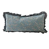 玫瑰装饰 [Rose deco] Buckwheat pillow with bule cover 23cm x48cm