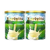 【女神价】【2罐装】Karivita 新西兰脱脂奶粉 高钙低脂成人奶粉900g罐装(18年12月新鲜生产)