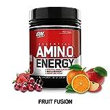 Optimum Nutrition 欧普特蒙 ESSENTIAL AMIN.O. ENERGY必需氨基酸粉,含绿茶和生咖啡提取物,适合运动前服用,混合水果味,65份