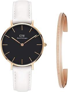 Daniel Wellington 丹尼尔·惠灵顿礼品套装,经典小号 Bondi 黑色 32 毫米手表 玫瑰金经典袖口