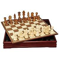 御圣-国际象棋套装-桦木棋子-木制棋盘-学生入门