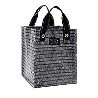 SCOUT Petit Bagette 可重复使用的大号杂货购物手提袋,折叠扁平,两条提手长度,防水 Pep Tally 均码