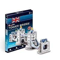 CubicFun 乐立方 3D立体拼图玩具 迷你建筑系列 伦敦双子桥 二星难度 S3010h(新老包装更替 随机发货)