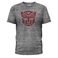Transformers AUTOBOTS 标志成人浅灰色 T 恤