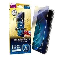 """鋼化膜 """"GLASS PREMIUM FILM"""" 標準尺寸LP-MIL19FGXB 1_iPhone 11 Pro Max/iPhone XS Max ドラゴントレイル-X スタンダードサイズ ブルーライトカット クリア"""