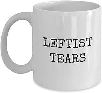 Leftist 泪珠马克杯 - Leftists 咖啡杯 - Lefties 热或冷礼物 - 陶瓷 - 柠檬 白色 11oz GB-2063859-20-White