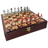 爱丽丝梦游仙境幻象棋 男士套装 W/ 高光泽樱桃和Burlwood 彩色存储板