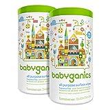 babyganics 通用表面湿巾,无香料,150 片(含 2 个 75 个罐子)