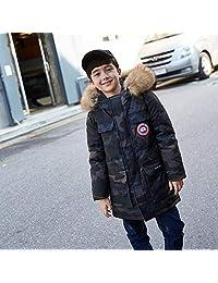 G.X.F羽绒服2018新款儿童羽绒服男童中大童装男小孩中长款连帽迷彩外套冬装 3-13岁小朋友冬装