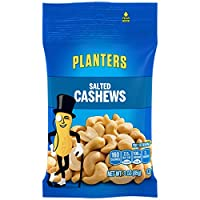 Planters Cashews, Salted, 3-Ounce Bags (Pack of 12)