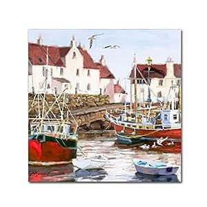Trademark Fine Art Gull Harbour Square 来自 Macneil Studio 18x18 ALI09778-C1818GG