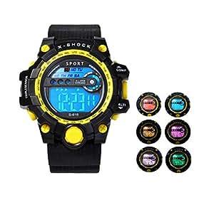 Dunn D101 LED 运动手表有 7 种夜光颜色,30 米防雨,多种功能——适合 7 岁至成年男女童