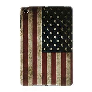 JUJEO 复古美国国旗硬质后壳适用于 iPad mini/iPad mini Retina 显示屏 (IPADM2-502B)