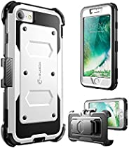 iPhone 8 手机壳,【Armorbox】i-Blason 内置【屏幕保护膜】【全身】【重型保护】减少震/防撞保护套适用于苹果 iPhone 7 2016/iPhone 8 2017 Release (白色)