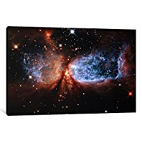 iCanvasART 11075-1PC6-40x26 Celestial Snow Angel S106 Nebula 'Hubble Space Telescope' Canvas Print by NASA, 1.5 x 40 x 26-Inch